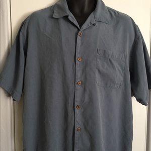 Tommy Bahama Silk Blue Gray Shirt